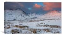 Tryfan with snow, Canvas Print