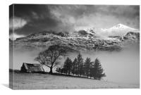 Heddwyn's barn, Canvas Print