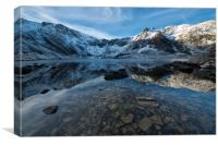 Cwm Idwal in the grip of winter, Canvas Print