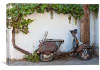 Abandoned Moped, Canvas Print