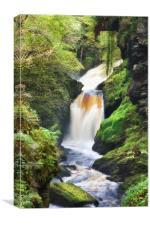 Tropical Waterfall, Canvas Print