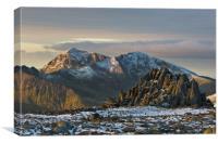 Snowdon and Castell y Gwynt, Canvas Print