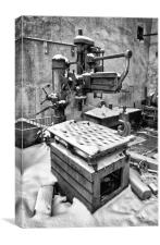 Richmond radial arm drill, Canvas Print