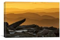 View from Glyder Fach, Canvas Print