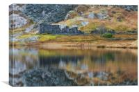 Cwmorthin cottages, Canvas Print