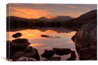 Snowdon sunset, Canvas Print