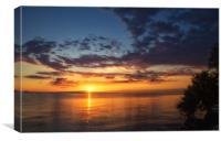 Greek sunrise, Canvas Print
