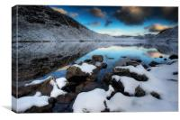 Llyn Manod shoreline, Canvas Print