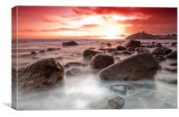 Boulder beach, Canvas Print