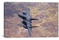 F15 E banking left, Canvas Print