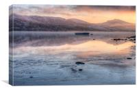 Llyn Tegid sunset, Canvas Print