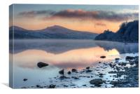 Tegid shore, Canvas Print