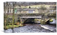 Hebden Bridge in Autumn, Canvas Print