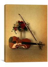 A Violin for Christmas, Canvas Print