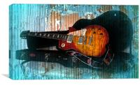 A Grungy Guitar, Canvas Print