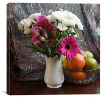 A Vase of Flowers, Canvas Print