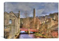 St Georges Bridge, Hebden, Yorkshire., Canvas Print