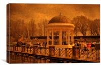 A Stroll around the Bandstand, Canvas Print