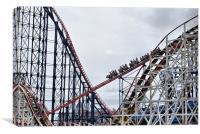 Roller Coaster Fun, Canvas Print