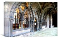 The East Cloister, Canvas Print