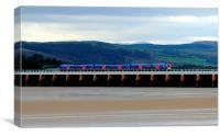Arnside Viaduct., Canvas Print