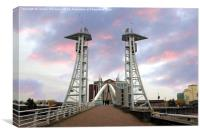 Lift Bridge, Salford Quays., Canvas Print