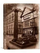 Roman Remains, Chester., Canvas Print