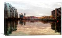 Detroit Bridge, Salford Quays, Canvas Print