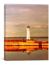 Lighthouse in Afternoon Sun , Canvas Print