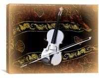 The White Violin , Canvas Print