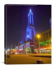 Blackpool Tower Lights., Canvas Print