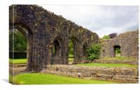Ruins of Whalley Abbey, Canvas Print