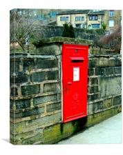 The Post Box in the Wall, Canvas Print