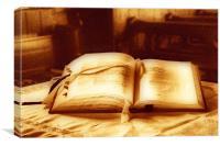 The Prayer Book, Canvas Print