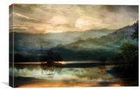 Daybreak in the Lakes, Canvas Print