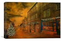 High Strret Haworth, Canvas Print