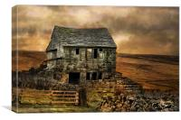 Derelict Cottage, Canvas Print