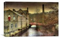 The Red Bridge., Canvas Print