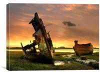 Boat Wrecks , Canvas Print