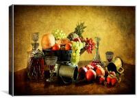 Vinatge style still life ., Canvas Print