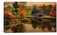 Autumn along the canal., Canvas Print