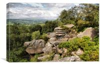 Brimham Rocks., Canvas Print