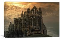 Whitby Abbey Ruins, Canvas Print