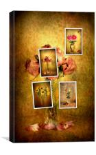 Collage of flowers, Canvas Print