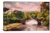 Pack Horse Bridge , Canvas Print