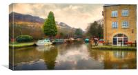 Rochdale Canal  Yorkshire, Canvas Print
