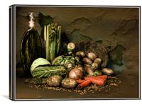 Still life with vegetables., Canvas Print