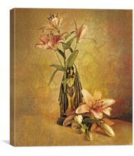 Vintage Lilies, Canvas Print