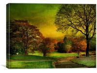 Oak Hill ., Canvas Print