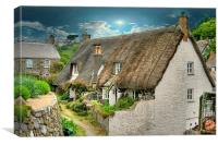 Thatched Cottage ., Canvas Print